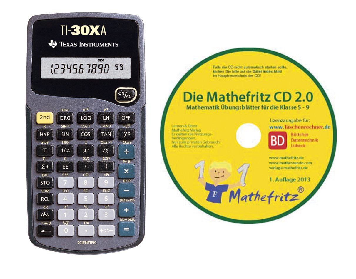 Texas Instruments TI 30 XA /Übungs-CD