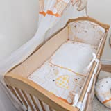 5 Pcs Baby Nursery All Round Bumper Set, 120x60cm 360cm long, Bedding Suits Cot - Pattern 17
