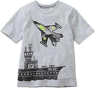 TAOJIAN Little Boys' Kids Short Sleeve Airplane T-Shirts & Tops
