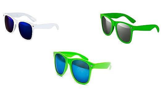 3 er Set Nerd Sonnenbrille Partybrille Festival Sunglass Atzen BrilleWeiß Schwarz Blau 2 Farben D709 TGtQfBEsaz