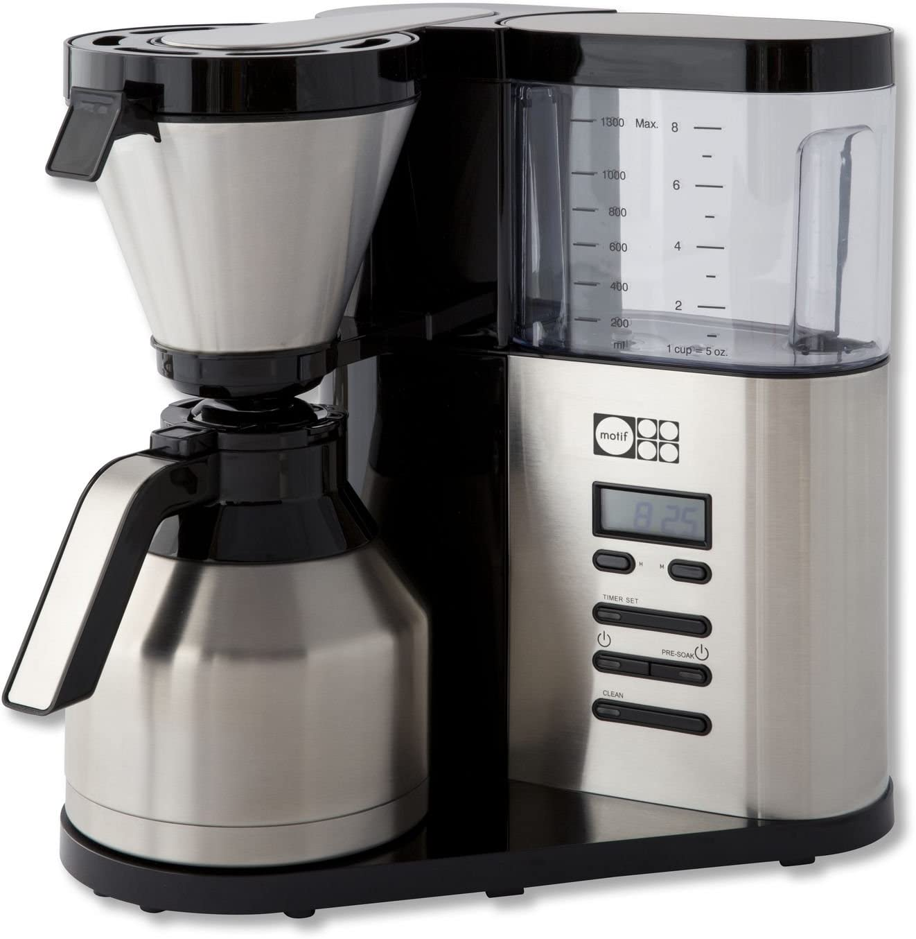 Amazon.com: Motif Elements - Cafetera, Acero inoxidable, M ...