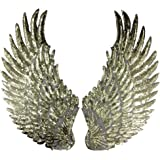 """1 Pair Embroidered iron on patches for clothes Wings design sequins Motif Applique,5.1""""*10.6"""" by Crqes"""