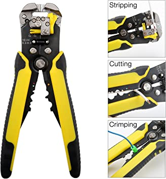 Mini Multifunction Cable Stripper Pliers Automatic Wire Stripping Tool