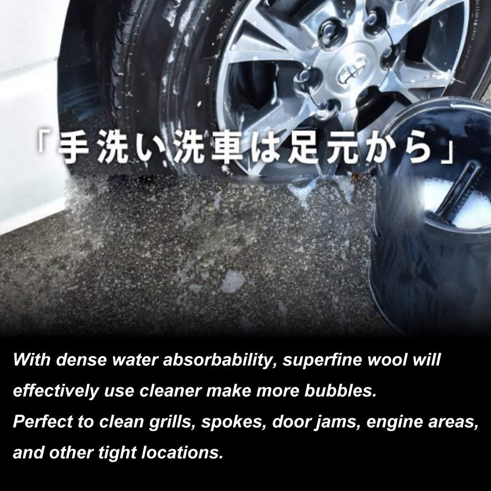 Brosse de lavage super douce 100 /% laine dagneau pour voiture Facile /à manipuler