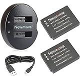 Newmowa EN-EL12 ersättningsbatteri (2-pack) och dubbel USB-laddare för Nikon EN-EL12 och Nikon Coolpix A900 A1000 AW100…