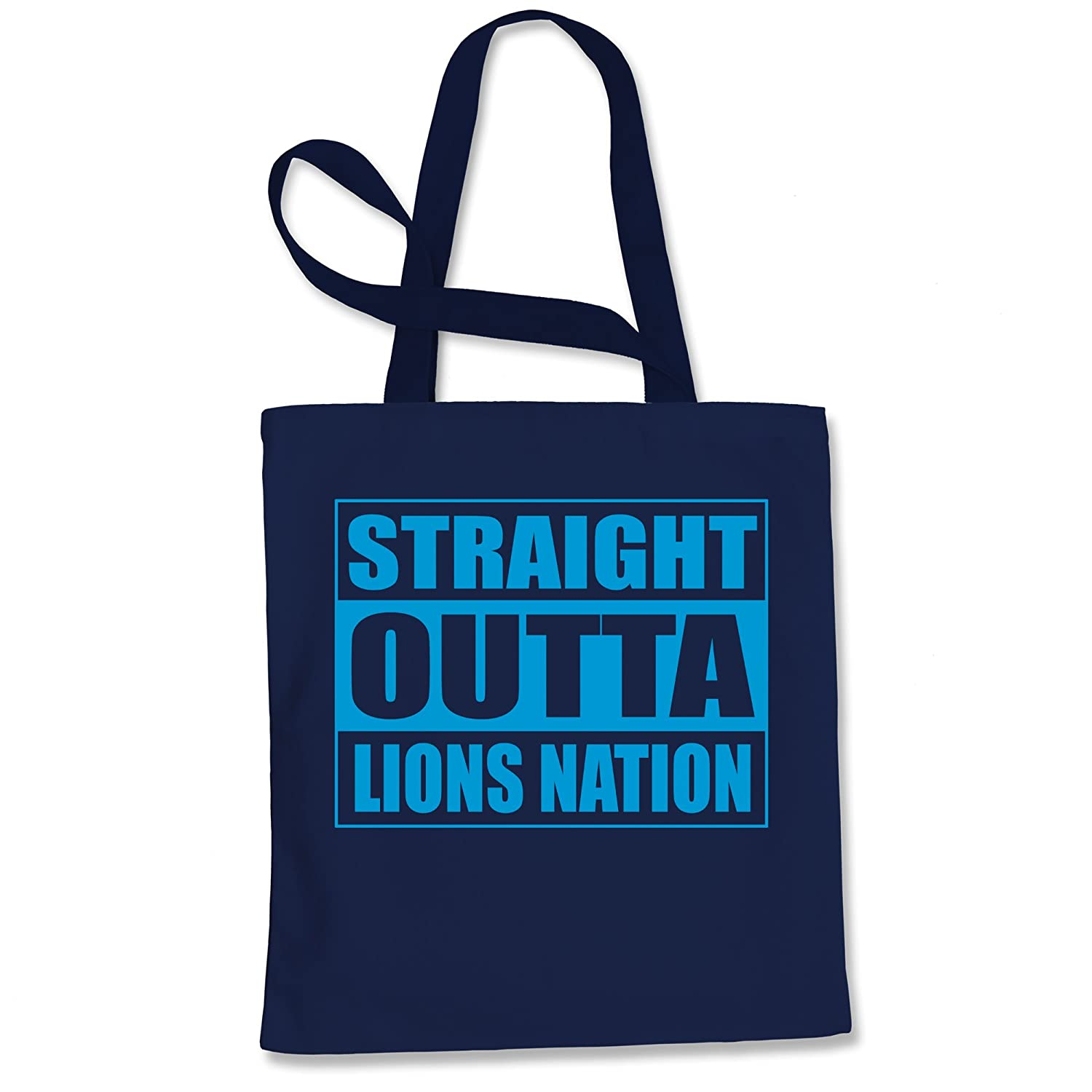 Tote Bag Straight Outta Lions Nation Football Pink Shopping Bag