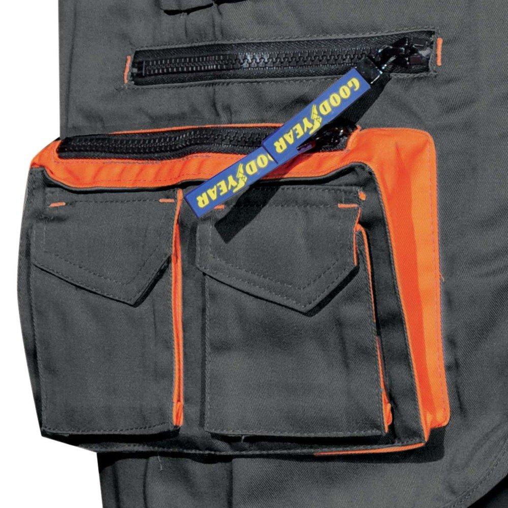 Gilet multitasche Goodyear in poliestere e cotone colore nero taglia XL