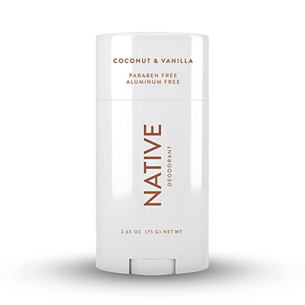 Native Deodorant - Natural Deodorant for Women and Men - Vegan, Gluten Free, Cruelty Free - Contains Probiotics - Aluminum Free & Paraben Free, Naturally Derived Ingredients - Coconut & Vanilla