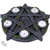 Nemesis Now Wiccan Pentagram - Portavelas (25,5 cm