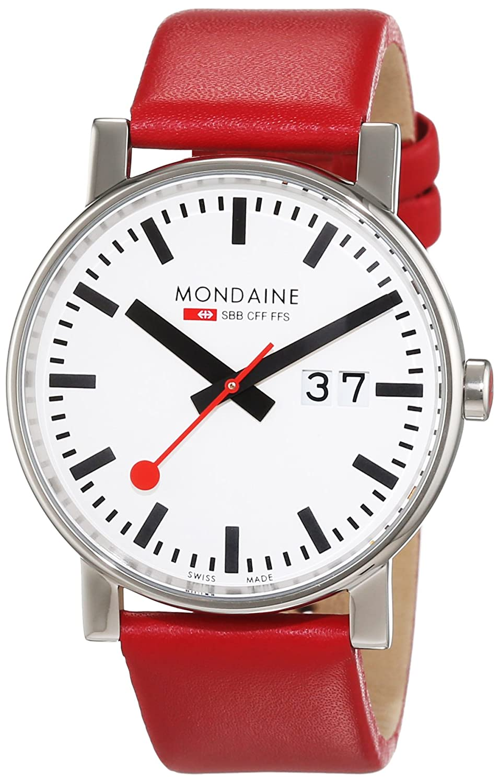 Mondaine Herren-Armbanduhr SBB Evo Big Date 40mm Analog Quarz A6273030311SBC