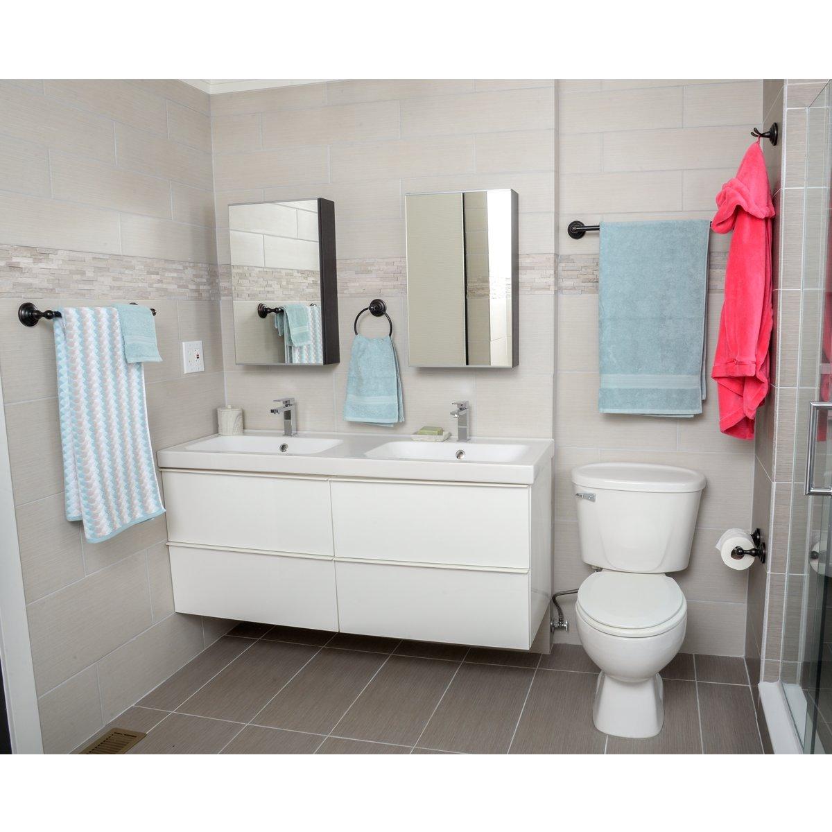 Basics Ensemble de 5/accessoires de salle de bain Traditionnel Nickel satin/é