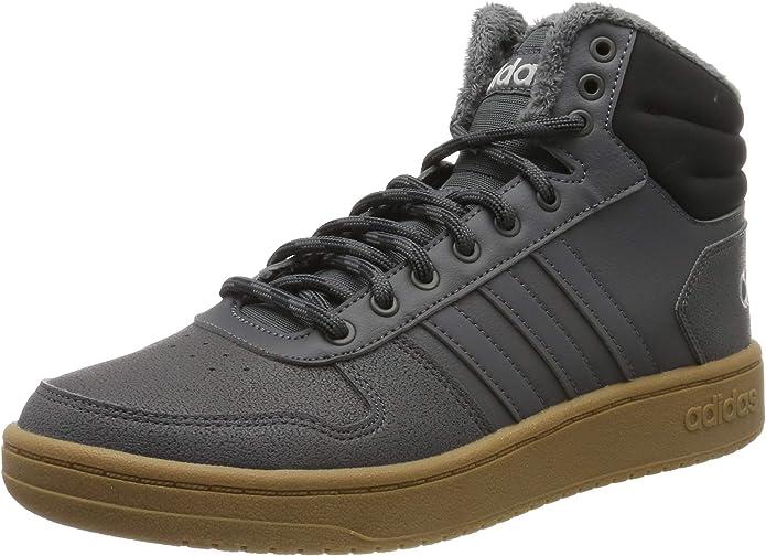 adidas Hoops 2.0 Mid Sneakers Basketball Schuhe Herren Grau