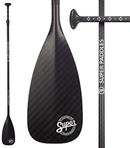 Super Paddles Pure 12K Carbon Fiber SUP Paddle - 3-Piece Adjustable Stand  Up Paddle cf2f0ac2d51b