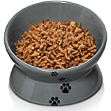 Y YHY Cat Bowl,Raised Cat Food Bowls Anti Vomiting,Tilted Elevated Cat Bowl,Ceramic Pet Food Bowl for Flat-Faced Cats…
