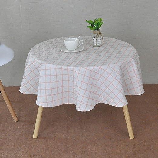 Ropa de Cocina Mesa Redonda de algodón - Mantel Circular de 3 cm ...