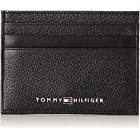 Tommy Hilfiger Men's Leather Card Holder, Black, One