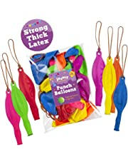 "jaunty partyware 25 Large Punch Balloons | Ideal for Party Bag Fillers | 12"" Premium Quality 