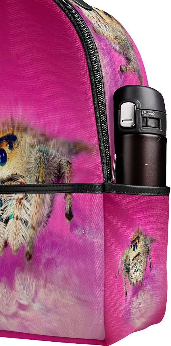 Mr.Weng Jumping Spider Printed Canvas Backpack For Girl and Children