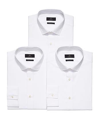 Homme Chemises Blanches De Blanc Next 3 15 Lot Unique Poignet xIqwd4