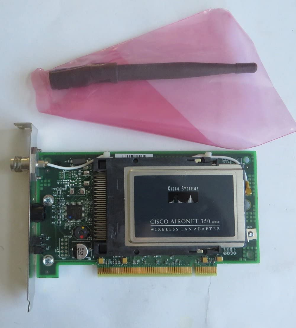 Renewed Cisco Aironet 350 Series 11Mbps Wireless LAN PC Card Adapter AIR-PCM352