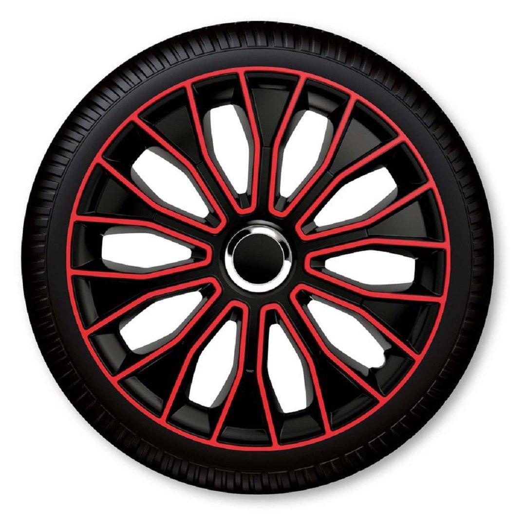 C&D Voltec Pro - Tapacubos (15 pulgadas, color rojo y negro ...