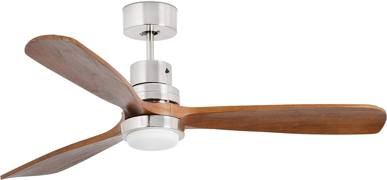 FARO BARCELONA 33518 - LANTAU LED Ventilador de Techo níquel Mate