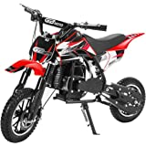 XtremepowerUS 49CC 2-Stroke Gas Power Mini Pocket Dirt Bike Dirt Off Road Motorcycle Ride-on Red