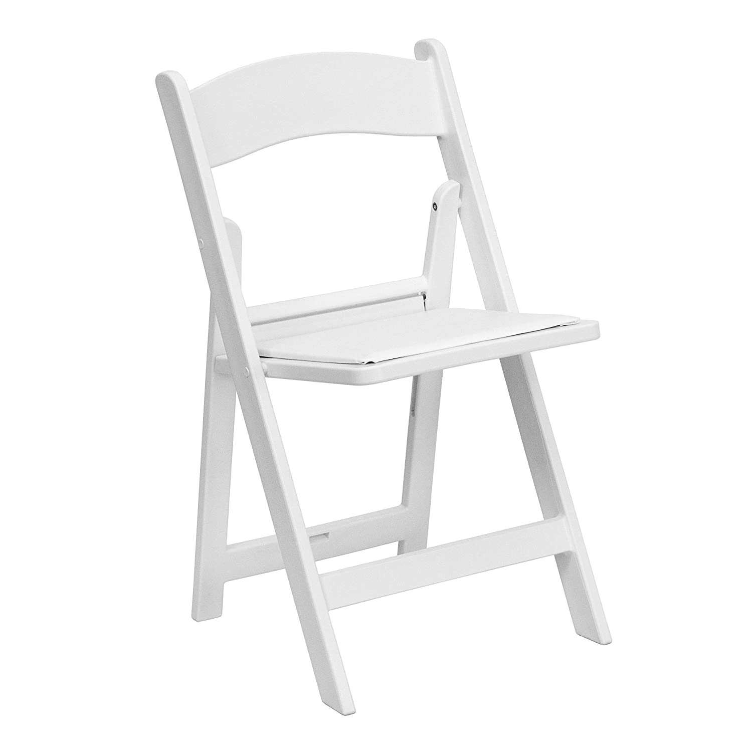 Astounding Flash Furniture Hercules Series 1000 Lb Capacity White Resin Folding Chair With White Vinyl Padded Seat Squirreltailoven Fun Painted Chair Ideas Images Squirreltailovenorg