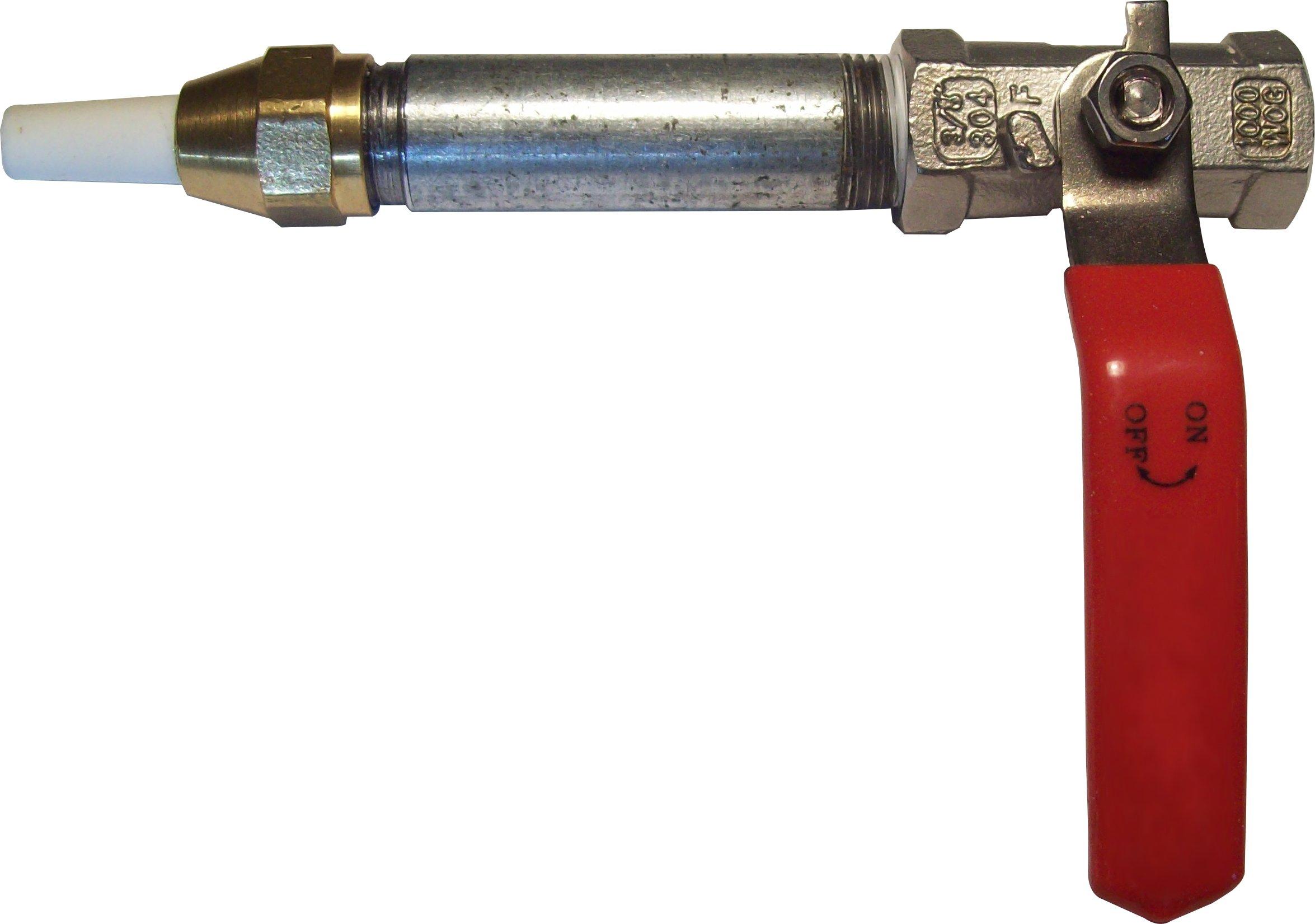 Sandblaster Nozzle Gun with Holder, Valve, Tip, Long-Lasting Steel