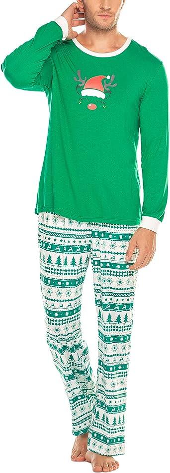 Ekouaer - Pijama de manga larga para mujer, con camiseta, pantalón de pijama para otoño e invierno