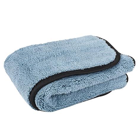 Sharplace Toalla de Microfibra para Lavado Secado de Coches Color Azul