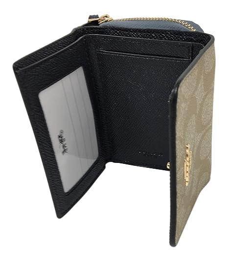 492be6ec12 Coach Small Tri-Fold Wallet in Colorblock Signature Canvas F67544 ...