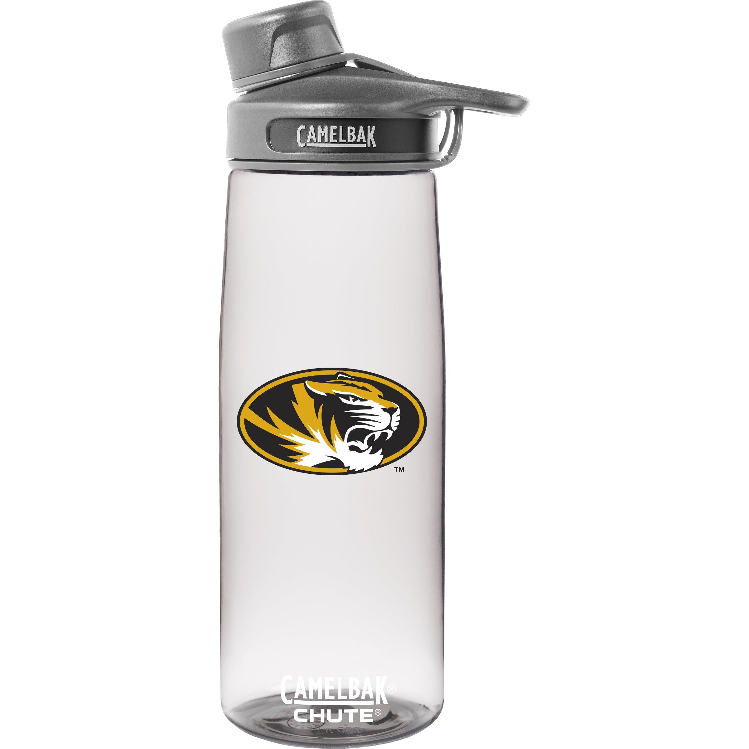 NCAA Missouri Tigers Unisex Chute .75L Collegiate Water Bottlecamelbak Chute .75L Collegiate Water Bottle, Clear.75 Liter