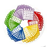Yuanhe Bingo Paper Game Cards 50 Bingo Cards in Mixed Colors