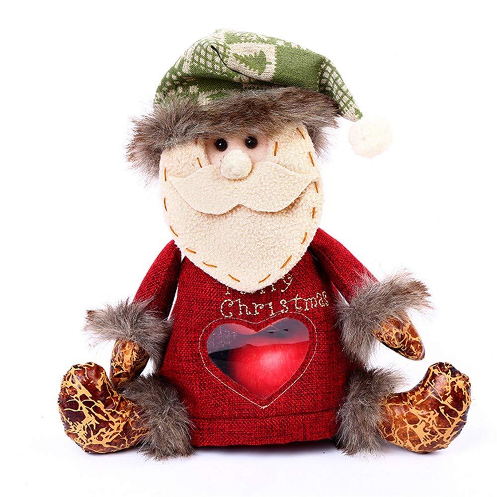 Amazon.com: LYFWL Creativo adornos de Navidad Papá Noel ...