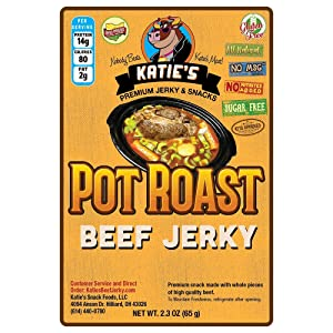 Pot Roast Beef Jerky - Sugar Free/Keto Friendly, All Natural, Gluten Free
