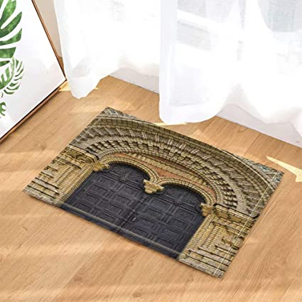 ANCIENNE RUINES ROMAINES antidérapant Porte Tapis de bain Tapis de salle décoration Tapis Sol Tapis