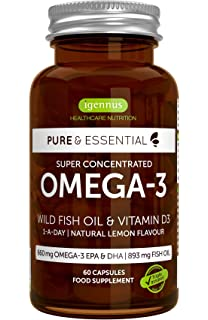 Pure & Essential Aceite de Pescado Salvaje Omega-3 410 mg EPA y 250 mg