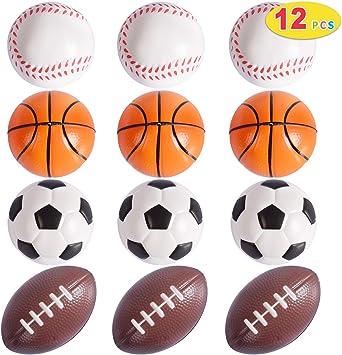 Max Fun 12 mini pelotas de espuma para el estrés, incluye pelota ...