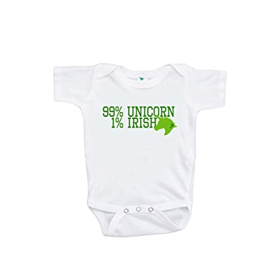 7 ate 9 Apparel Girl's ST Patrick's Day Unicorn Onepiece