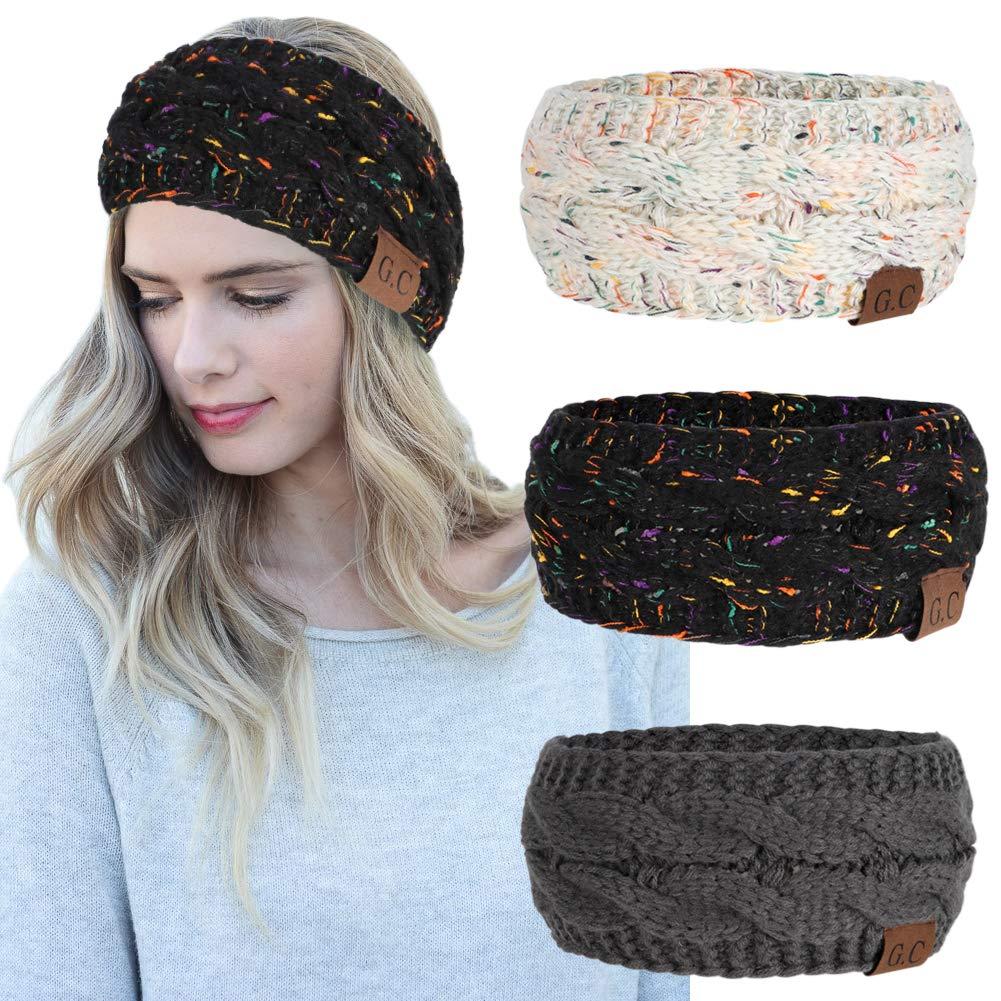 Amazon Women Headbands 3pcs Knit Headband Twist Headband