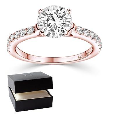 e04f68264341 Anillo de compromiso   Swarovski   propuesta Anillo Rose oro Vermeil ...
