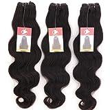 My-Lady 7A 60cm+60cm+60cm Extension Capelli Veri Human Hair Vergini Unprocessed Brasiliani 300g/pack Tessitura