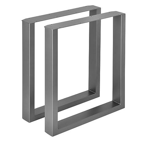 [en.casa]®] 2 x Conjunto de Patas de Mesa - Set de 2X Patas de Mesa - Metal - Patas de los Muebles - 60 x 72 cm - para Mesa de Comedor - Armazón de ...