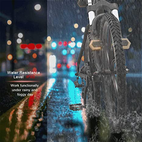 5 LED wasserdichte Fahrrad Fahrrad Fahrrad hinten Rücklicht Warnleuchte