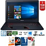 """Samsung NP800G5M-X01US 15.6"""" Odyssey Intel i7-7700HQ 128GB Gaming Laptop + Elite Suite 17 Standard Software Bundle (Corel WordPerfect, PC Mover,PDF Fusion,X9) + 1 Year Extended Warranty"""
