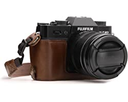 MegaGear Ever Ready Leather Camera Half Case and Strap Compatible with Fujifilm X-T30, X-T20, X-T10