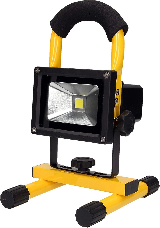 20W ORNO Robotix 10W Foco LED Recargable IP65 Resistante al Aqua con Bater/ía Incorporada 2200 mAh 6000k