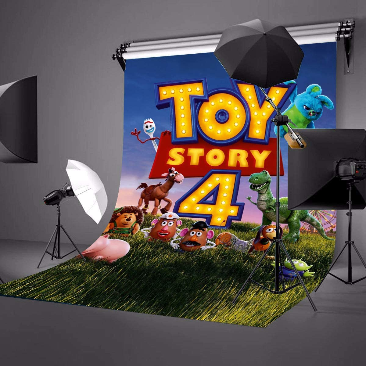 LYLYCTY 5x7ft Cartoon Theme Backdrop for Son Portrait Background Banner Baby Shower Kids Hero Photo Booth Studio Props LYZY0806
