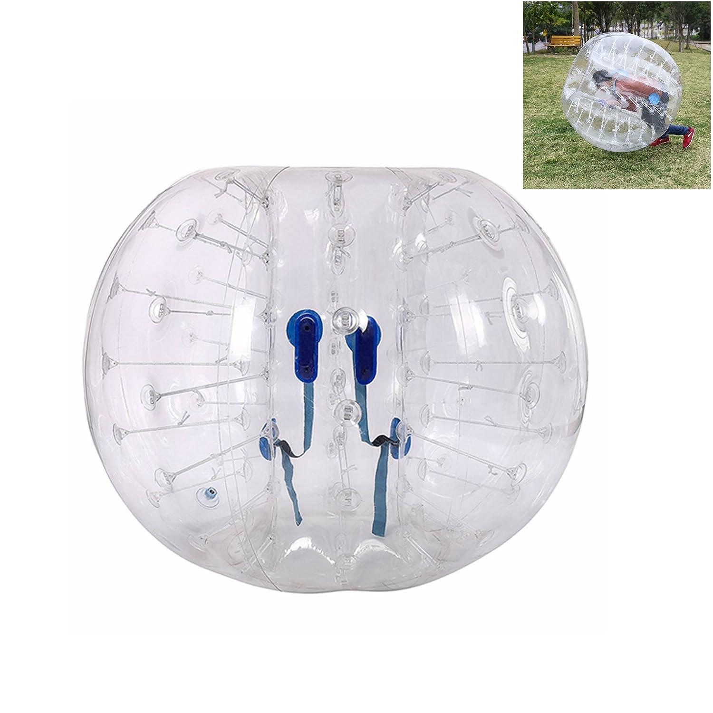 leoneva PVC透明インフレータブルバンパーバブルサッカーボール、Dia 5 Ft Human Knockerボールバブルサッカー B076H4KFBY透明 5FT